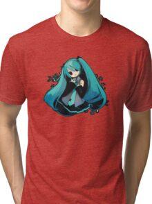 Kawaii girl Tri-blend T-Shirt