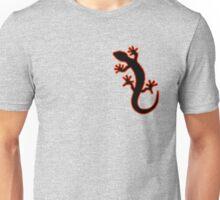 Gecko schwarz rot Unisex T-Shirt