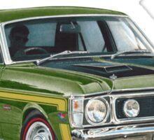 XW GT HO Ford Falcon in reef green Sticker