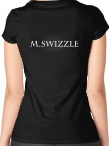 M.Swizzle Black Women's Fitted Scoop T-Shirt