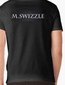 M.Swizzle Black Mens V-Neck T-Shirt