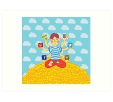 Shinta (Social Media Goddess) Art Print