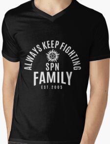 ALWAYS KEEP FIGHTING SPN FAMILY EST.2005 Mens V-Neck T-Shirt