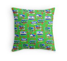 Gove Hawaiian design - green back ground Throw Pillow