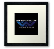 Weyland Yutani - Distressed Gradient Logo Framed Print