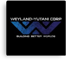 Weyland Yutani - Distressed Gradient Logo Canvas Print