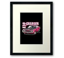 E38 Valiant Charger in Magenta Framed Print