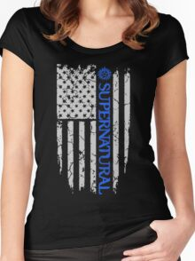 SUPERNATURAL FLAG Women's Fitted Scoop T-Shirt