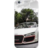 Audi white car iPhone Case/Skin