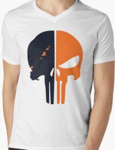 Punisher x Deathstroke Mens V-Neck T-Shirt