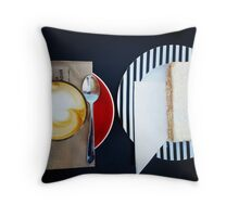 Comfort Food: Coffee & Slice Throw Pillow