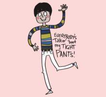 Tight Pants - cartoon Kids Tee