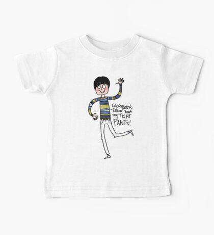 Tight Pants - cartoon Baby Tee