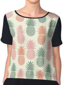 Pineapples Chiffon Top
