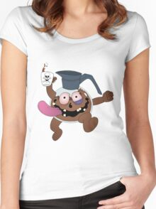 Coffee Man! Women's Fitted Scoop T-Shirt