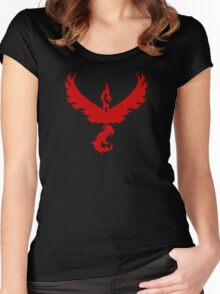 Pokemon GO: Team Valor - Clean (Red Team) Women's Fitted Scoop T-Shirt
