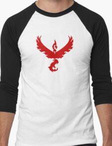 Pokemon GO: Team Valor - Clean (Red Team) Men's Baseball ¾ T-Shirt