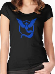 Pokemon GO: Team Mystic - Clean (Blue Team) Women's Fitted Scoop T-Shirt