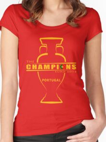 THE CHAMPIONS, PORTUGAL, EURO Women's Fitted Scoop T-Shirt