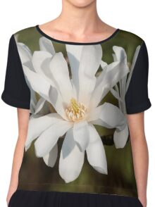 Magnolia flowers Chiffon Top
