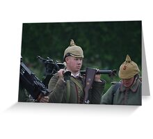 German Soldier - The Great War Greeting Card