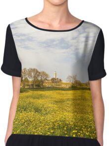 Field of yellow Chiffon Top