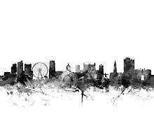 Nottingham England Skyline Photographic Print