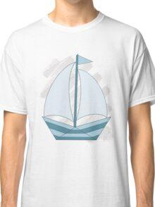 paper sailing boat, yacht Classic T-Shirt