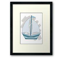 paper sailing boat, yacht Framed Print