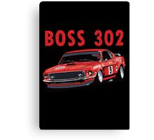 Ford 302 Boss Mustang Design Canvas Print