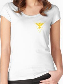 Pokemon Go Team Instinct Women's Fitted Scoop T-Shirt