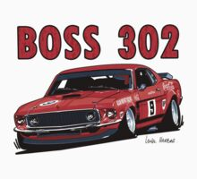 Ford 302 Boss Mustang Design by UncleHenry