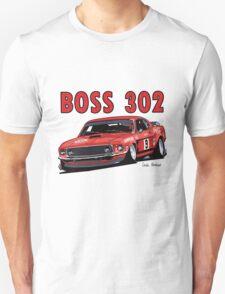 Ford 302 Boss Mustang Design T-Shirt