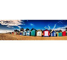 Brighton Beach huts pano Photographic Print