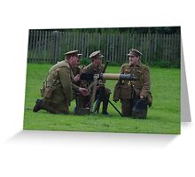 Vickers Machine Gun Crew Greeting Card
