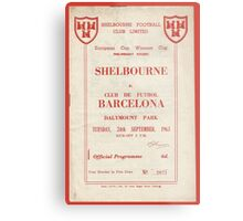 SHELBOURNE VS BARCELONA - PROGRAMME COVER  Metal Print