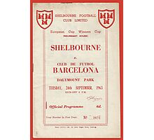 SHELBOURNE VS BARCELONA - PROGRAMME COVER  Photographic Print