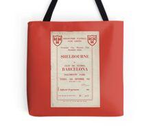 SHELBOURNE VS BARCELONA - PROGRAMME COVER  Tote Bag