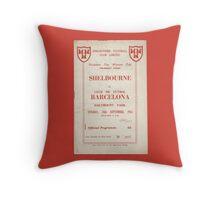 SHELBOURNE VS BARCELONA - PROGRAMME COVER  Throw Pillow