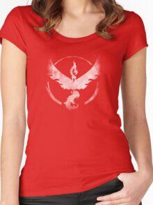 Team Valor grunge Women's Fitted Scoop T-Shirt