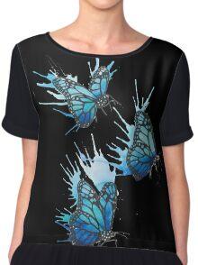 Watercolour Butterflies Chiffon Top