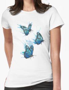 Watercolour Butterflies Womens Fitted T-Shirt