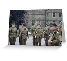 WW1 Soldiers On Parade Greeting Card