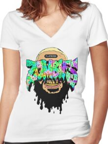 flatbush zombies 4 Women's Fitted V-Neck T-Shirt