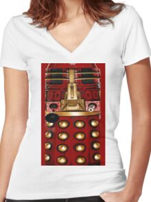 dalek graphic t shirt doctor who Women's Fitted V-Neck T-Shirt