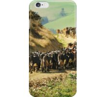 Bringing the cows in iPhone Case/Skin