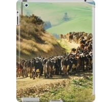 Bringing the cows in iPad Case/Skin