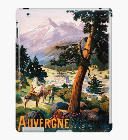 Auvergne, French Travel Poster iPad Case/Skin