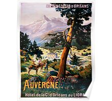 Auvergne, French Travel Poster Poster