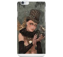 Lady and Owl Steam punk Art iPhone Case/Skin
